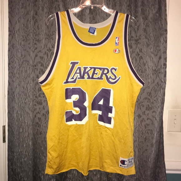 Champion Other - Vtg 90 s LA Lakers Champion NBA Jersey Shaq O Neal ee518173f
